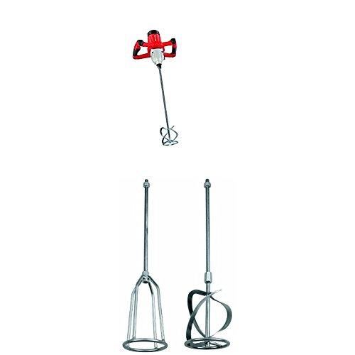 Preisvergleich Produktbild Einhell Farb Mörtelrührer TE-MX 1600-2 CE (1600 W, 2-Gang-Getriebe, Konstantelektronik, Softstart, inklusiv Mörtelrührer) 4258555 + Einhell Rührer Set passend für Mörtelrührer (Aufnahme M14, 2-teilig)