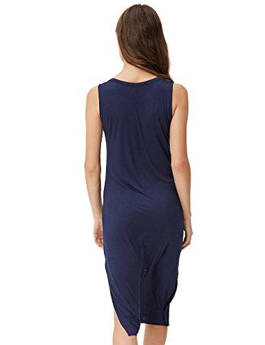 Glo-Story Damen Schlauch Kleid S M L XL Blau - Blau