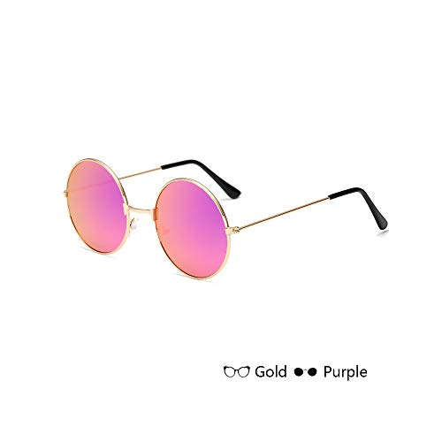 MINGW- Round Sunglasses Kids Frame Glasses Children Sun Glasses for Boys Girls Brand Eyewear Uv400