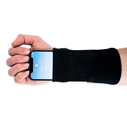 Runamics | Smartphonetasche für den Unterarm | Joggen, Laufen, Fitness, Sport | aus Bambus-Viskose und Baumwolle | Smartphone Armband, Handy Armtasche, Joggingtasche, Sportarmband, Handgelenktasche (L)