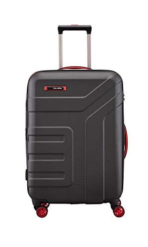 Travelite - Valigia serie'VECTOR' di travelite: trolley rigidi, trolley e beauty cases in 4 colori di tendenza, 70 cm, 79L, nero
