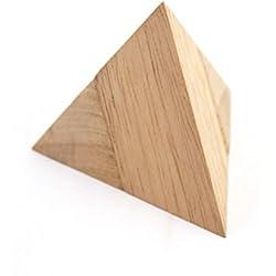 Dilemmata Pyramide, Pyramiden Puzzle 2-teilig Holz Puzzle Knobel IQ-Spiel