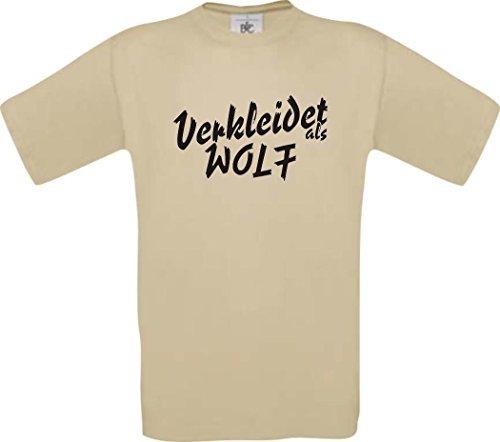 ShirtInStyle T-Shirt Karneval Verkleidet als Wolf Die beste Verkleidung Farbe khaki, Größe M (Khaki-erwachsenen T-shirt)