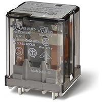 Finder serie 62 - Rele potencia circuito impreso 230vac 3 contactos pulsador +indicador