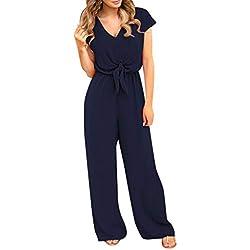 Pantalon Sarouel Femme Grande Taille Casual,Covermason Soldes Combinaison Femme Taille Haute Chic pour Soirée Loose Mode Pantalons Jumpsuit Clubwear
