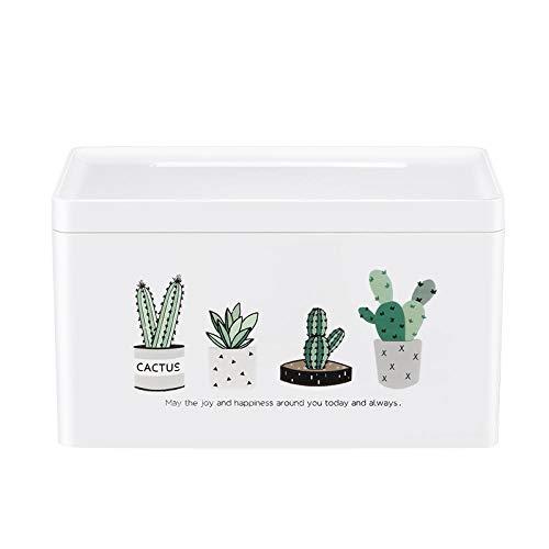 Joeesun Bad Taschentuch Box kreative freie Punsch Wand wasserdicht Haushalt Bad WC-Racks niedlichen WC-Tablett Kaktus -
