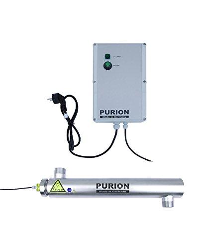 PURION 2001 clarificateur d'eau système UV piscine jusqu'à 30m³ filtre d'étang en acier inoxydable
