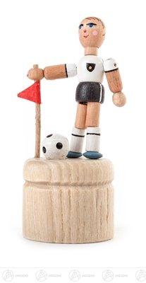 Futbolista de la estatuilla de Nodder de la estatuilla de Nodder, altura de las clases de muñeca temblorosa principal temblorosa de aproximadamente 8 del cm OTRA VEZ montañas del mineral