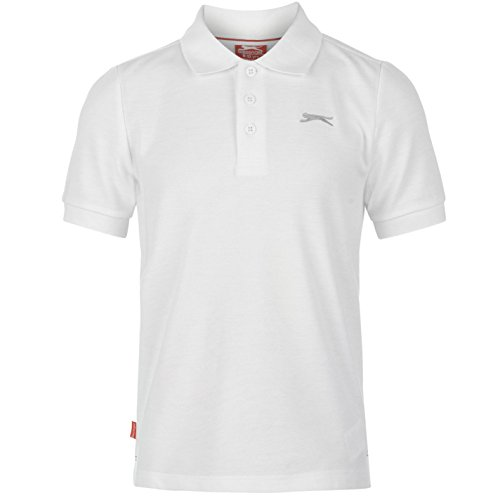 Slazenger Kinder Jungen Einfarbig Polo Poloshirt Kurzarm T Shirt Tee Top 11-12 (LB) (Tank Top Baseball-ribbed)