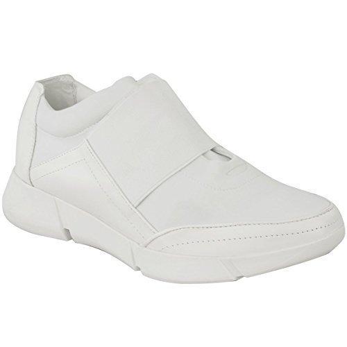 Donna Da Corsa Scarpe Da Ginnastica Palestra Fitness Sport Scarpe Alla Moda Numero Bianco Similpelle