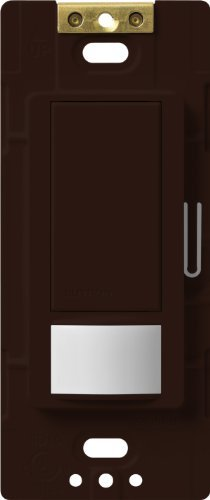 Lutron Maestro Motion Sensor switch, no neutral required, 250 Watts Single-Pole, MS-OPS2-BR, Brown by Lutron -