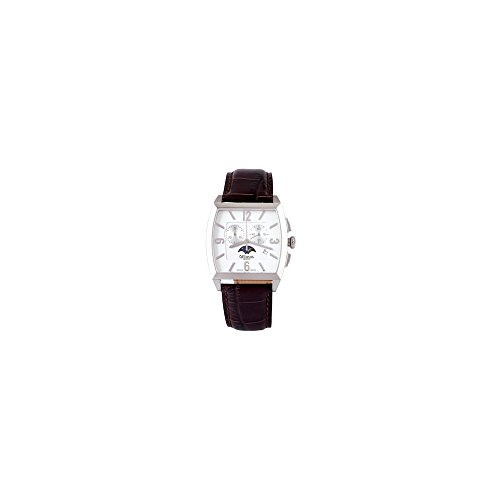 men's watch rectangular chronograph wrist strap leather altanus 7917