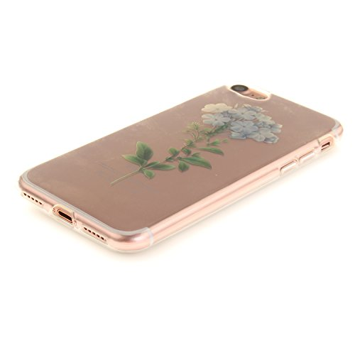 iPhone 7 Hülle,iPhone 7 Hülle Case,iPhone 7 Silikon Hülle [Kratzfeste, Scratch-Resistant], Cozy Hut iPhone 7 (4,7 Zoll) Hülle TPU Case Schutzhülle Silikon Crystal Kirstall Clear Case Durchsichtig, Far Blume