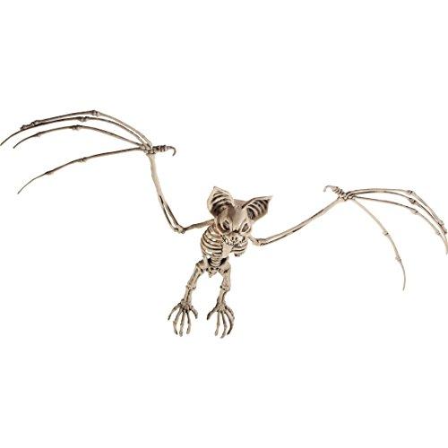 Amakando Fledermaus Dekoskelett Knochen Dekofigur Flughund Grusel Dekoration Gerippe Deko Fledermäuse Horror Partydeko Raumdeko Halloween Dekoration ()