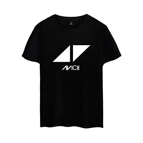 INSTO T-Shirt Mode 3D Drucken Kurz Ärmel T-Stück Dj Avicii Gedruckt Unterhemd Unisex Freizeit Wild / B1 / 3XL
