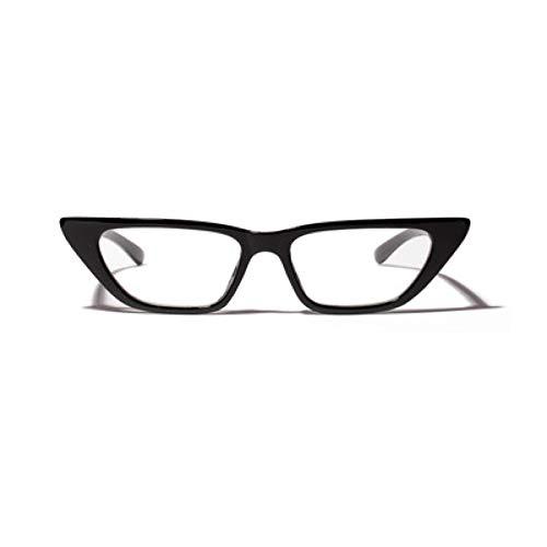 SUNNYJ Sonnenbrille Der Zufällige Schwarze Rahmenflachespiegeldamen Der Männer Retro- Kleines Gesicht Brillengestellmodedamen Katzenaugenleopard-Brillengestelle 1