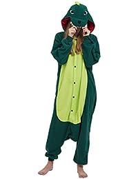 2e3a34ee3f Kigurumi Pijama Animal Entero Unisex para Adultos con Capucha Cosplay Pyjamas  Dinosaurio Ropa de Dormir Traje