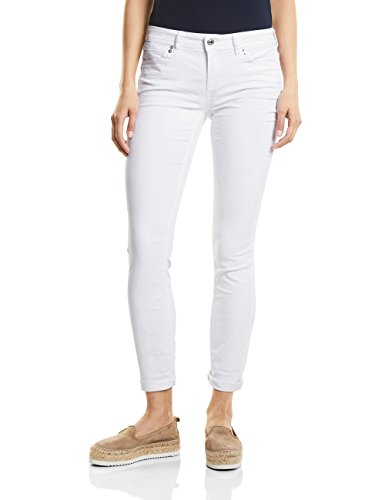 Street One Damen Slim Jeans 371342 Jane, Weiß (White Denim 11371), W27/L30