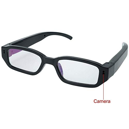 Caméra Espion, Flylinktech HD Mini Lunettes Espion caméra cachée Caméscope DVR caméra Sport cachée (Noir)