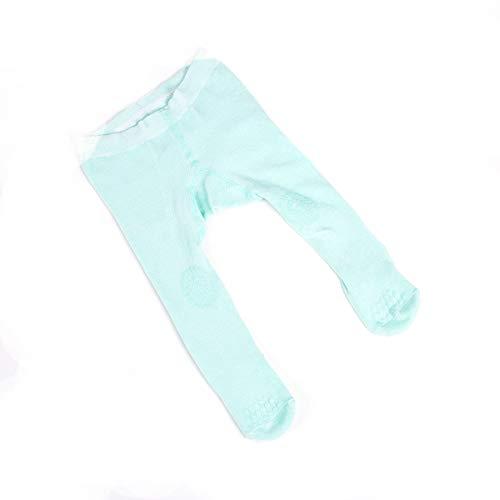 Collants bébé Fille Collants sans Coutures Pantalon en Coton tricoté Anti-dérapant Pantalon Long Bas (Color : Green, Size : 12-24M)