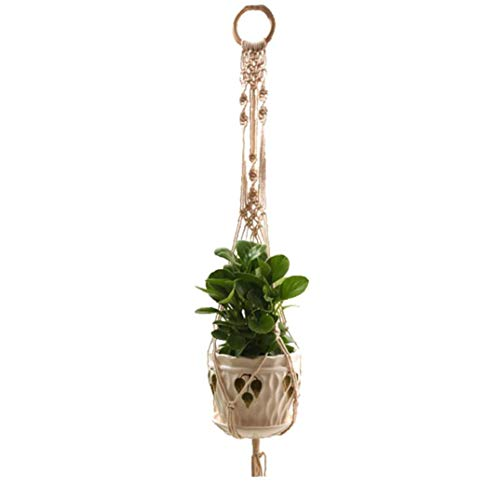 Culer Makramee-Betriebsaufhänger Indoor Outdoor Hanging Planter Basket Pflanze Blume Halter Handwerk Für Boho Home Decor