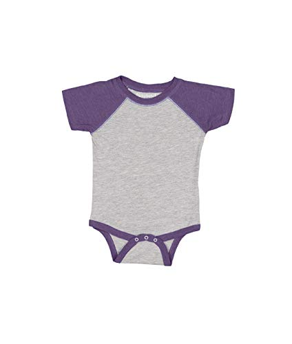 Infant Baseball Fine Jersey Bodysuit VN HTHR/VN PURP 24MOS Baseball Infant Bodysuit