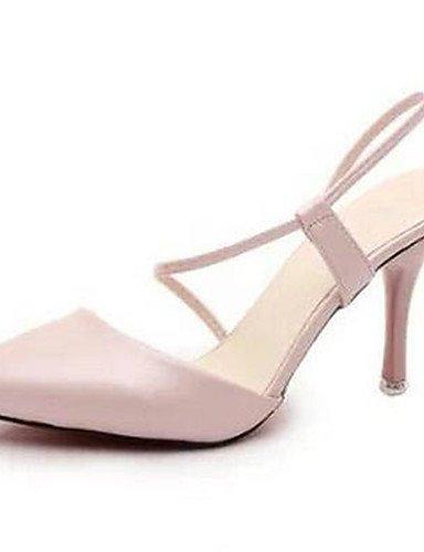 WSS 2016 Chaussures Femme-Habillé / Décontracté-Rose / Blanc-Talon Aiguille-Bout Pointu-Talons-Similicuir white-us5.5 / eu36 / uk3.5 / cn35
