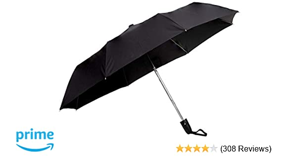 Sun Umbrella Classic Folding Automatic Open Uv Protective Umbrella, Black