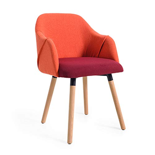 Chaise chaise simple table basse meubles chaise de bureau chaise de loisirs chaise en bois massif Salle à manger Chaises (Color : Red, Size : 48 * 48 * 85cm)