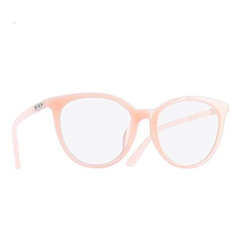 CHJKMN Brillengestell Lesebrille Damen Klar Brillengestell Optisch Oval Klare Linse