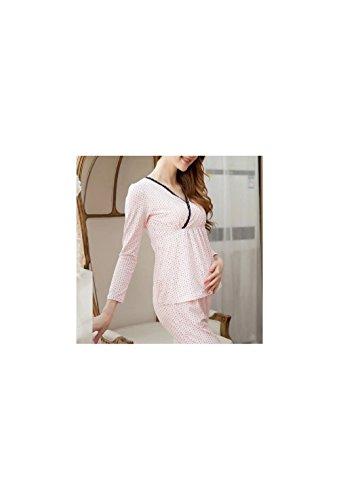 Mums 'n' Babies Baby Pink Polka Dotted Maternity Nursing pajama set