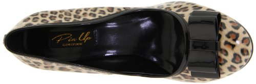 Pleaser Damen Smitten-01 Pumps Leopard-Schwarz