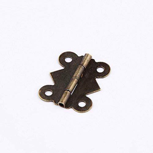 Raing 20 Stück 25 * 20mm Antike Holzkiste Geschenkverpackungen Schmetterling Kleine Scharnier Möbel Eckschränke
