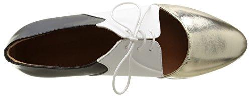 Emma Go 16011, Scarpe Stringate Donna Multicolore (Multicolore (Metal Platino/White/Black))