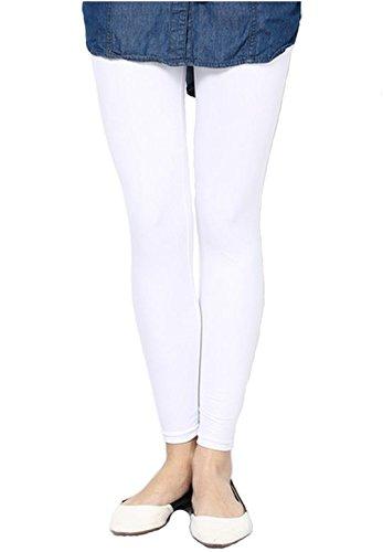 FashGlam Women Premium Ankle Length Cotton Legging - White