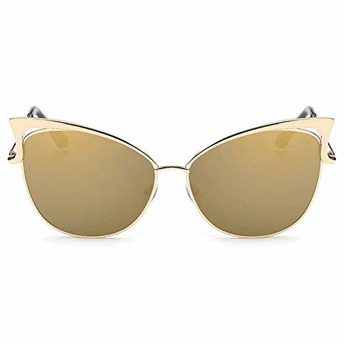 Highdas Retro Vintage Cat Eye Lunettes de soleil Gold/Or Tyrant
