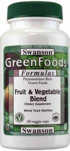 Swanson GreenFoods Fruit & Vegetable (60 Vegetarian Capsules ) by Swanson Health Products