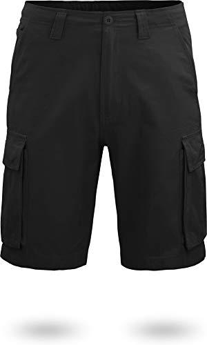normani US BDU Bermuda Shorts Sport-Frezeithose mit Seitentaschen für Herren aus Bio-Baumwolle S-XXXXL Farbe Schwarz Größe M -