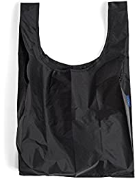 Reusable Eco Friendly Baggu Folding Waterproof Shopping Lightweight Tote Bag (Black)