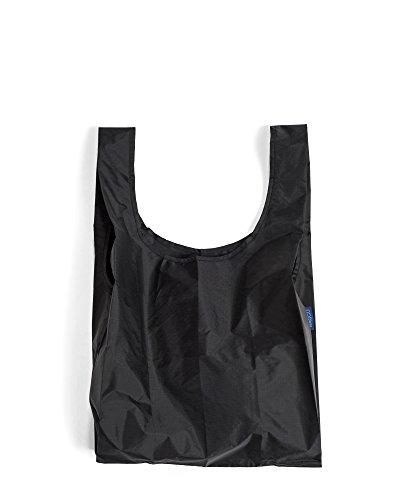 Reusable Eco Friendly Baggu Folding Waterproof Shopping Lightweight Tote Bag (Black)