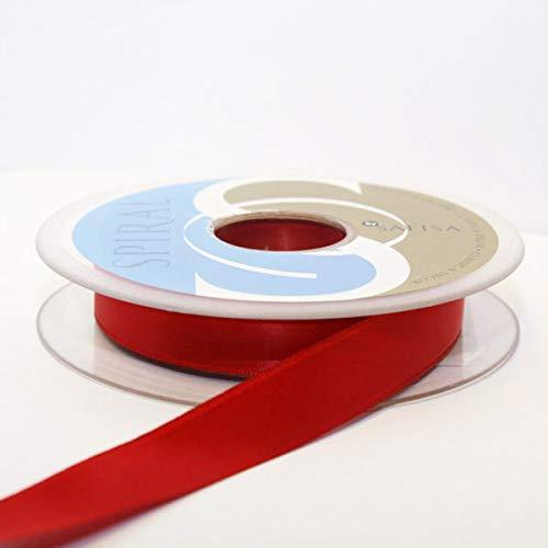 Satin-hutband (Hutband Satin-Band, 15 mm: je 2 x 2 m, Rot)