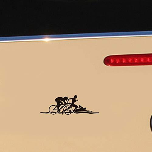 auto aufkleber 18.9x6.4cm personalisierte Triathlon Rennwagen Aufkleber Heimtrainer Persönlichkeit Aufkleber für Auto Laptop Fenster Aufkleber
