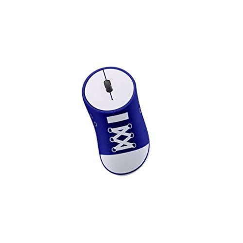 jfhrfged Drahtlose Maus 2,4 GHz Spiel ergonomisches Design Canvas Schuhe Stil Maus USB-Maus (Blau) -