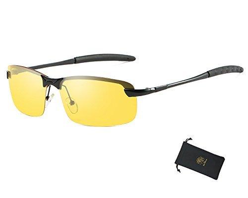 Red Peony Gafas De Sol Amarillas Conducir Nocturnas polarizadas Gafas de sol de aviador Protecci/ón UV 400