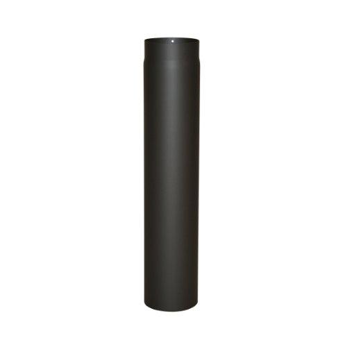 Ofenrohr Senotherm® 2 mm Ø 120 mm hitzebeständig lackiert, gerade - Rauchrohr, Kaminrohr schwarz - für Pellettofen und Kamine - Länge: 750 mm
