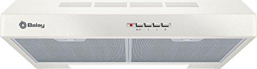 Balay 3BH263MB Telescópica o extraplana Blanco 350m³/h D – Campana (350 m³/h, Canalizado/Recirculación, E, E, C, 72 dB)