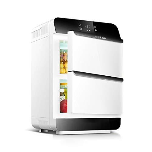 Autokühlschrank Tragbarer Mini-Kühlschrank Car Home Dual-Use-Schlafsaal Muttermilch Kosmetik LCD-Display CNC Doppeltür Dual-Core 28L