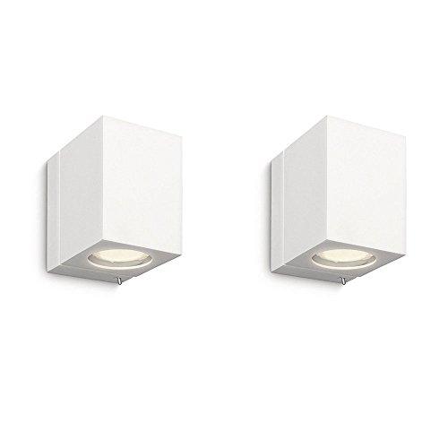 Pack de 2 Luminaire Philips - Applique murale cubique Ecomoods - 332183116