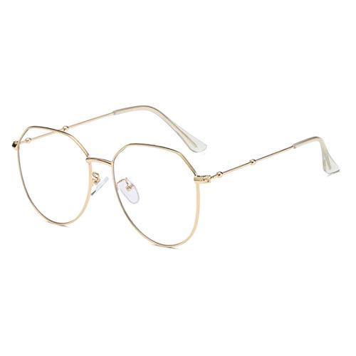 Huicai Fashion Unisex Retro Thin Metallrand Square Frame Optische Gläser