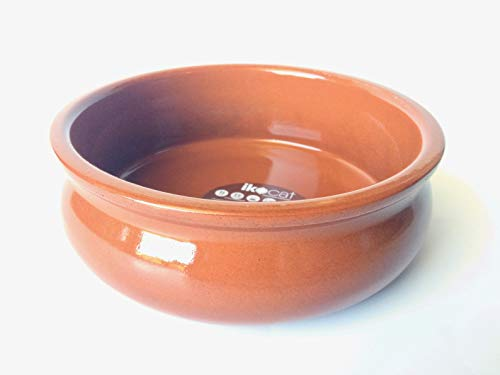 Ikocat® Cassole aus Terrakotta, gewölbt, echte katalanische Keramik, 6 Stück, 17 cm